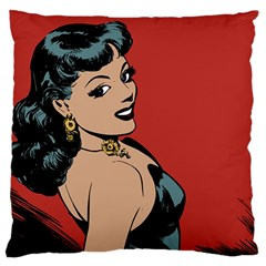 Comic Girl Large Flano Cushion Case (two Sides) by vintage2030