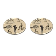 Victorian Bicycles Cufflinks (oval) by vintage2030