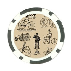 Victorian Bicycles Poker Chip Card Guard