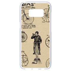 Victorian Bicycles Samsung Galaxy S8 White Seamless Case