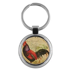 Rooster Key Chains (round)