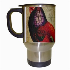 Rooster Travel Mugs (white) by vintage2030