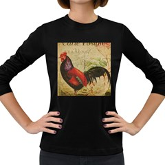 Rooster Women s Long Sleeve Dark T Shirt