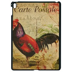 Rooster Apple Ipad Pro 9 7   Black Seamless Case by vintage2030