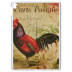 Rooster Apple Ipad Pro 9 7   White Seamless Case by vintage2030