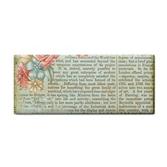 Rose Book Page Hand Towel