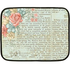 Rose Book Page Fleece Blanket (mini) by vintage2030