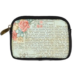 Rose Book Page Digital Camera Leather Case by vintage2030