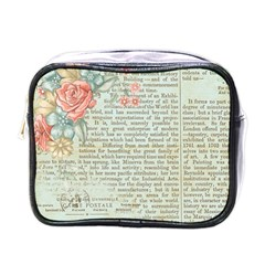 Rose Book Page Mini Toiletries Bag (one Side) by vintage2030