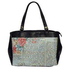 Rose Book Page Oversize Office Handbag by vintage2030