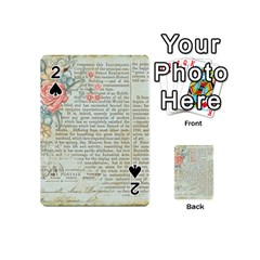 Rose Book Page Playing Cards 54 (mini)  by vintage2030