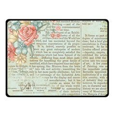 Rose Book Page Double Sided Fleece Blanket (small)  by vintage2030