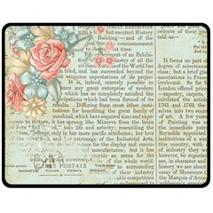 Rose Book Page Double Sided Fleece Blanket (medium)  by vintage2030