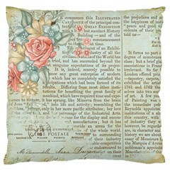 Rose Book Page Standard Flano Cushion Case (one Side) by vintage2030
