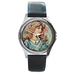 Lady Round Metal Watch