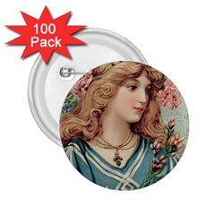 Lady 2 25  Buttons (100 Pack)