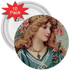 Lady 3  Buttons (10 Pack)