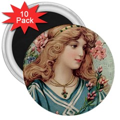 Lady 3  Magnets (10 Pack)