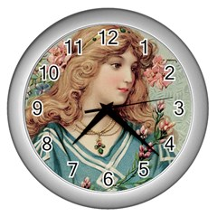 Lady Wall Clock (silver) by vintage2030