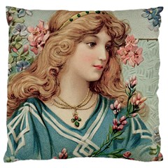 Lady Large Cushion Case (two Sides) by vintage2030