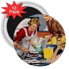 Retro Baking 3  Magnets (10 Pack)