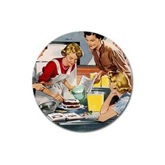 Retro Baking Magnet 3  (round)
