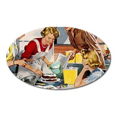 Retro Baking Oval Magnet