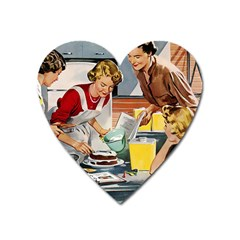 Retro Baking Heart Magnet