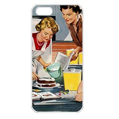 Retro Baking Apple Iphone 5 Seamless Case (white) by vintage2030