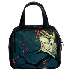 Girl And Flowers Classic Handbag (two Sides) by vintage2030