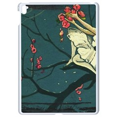 Girl And Flowers Apple Ipad Pro 9 7   White Seamless Case by vintage2030