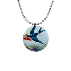 Blue Bird Button Necklaces by vintage2030