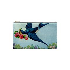 Blue Bird Cosmetic Bag (small) by vintage2030