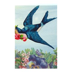 Blue Bird Shower Curtain 48  X 72  (small)  by vintage2030