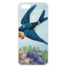 Blue Bird Apple Iphone 5 Seamless Case (white) by vintage2030
