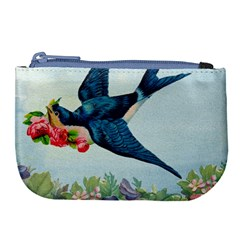 Blue Bird Large Coin Purse by vintage2030
