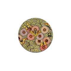 Flower And Butterfly Golf Ball Marker (10 Pack) by vintage2030