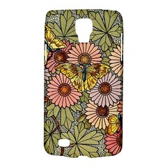 Flower And Butterfly Samsung Galaxy S4 Active (i9295) Hardshell Case by vintage2030