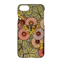 Flower And Butterfly Apple Iphone 7 Hardshell Case by vintage2030