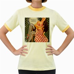 Retro 1410650 960 720 Women s Fitted Ringer T Shirt