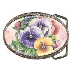 Lowers Pansy Belt Buckles by vintage2030