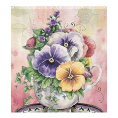 Lowers Pansy Shower Curtain 66  X 72  (large)  by vintage2030