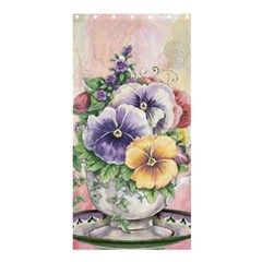 Lowers Pansy Shower Curtain 36  X 72  (stall)