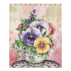 Lowers Pansy Shower Curtain 60  X 72  (medium)