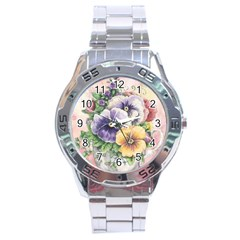 Lowers Pansy Stainless Steel Analogue Watch