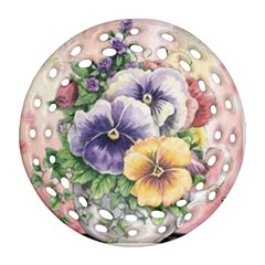 Lowers Pansy Ornament (round Filigree)