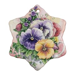 Lowers Pansy Ornament (snowflake)