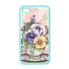 Lowers Pansy Apple Iphone 4 Case (color)