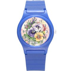 Lowers Pansy Round Plastic Sport Watch (s)