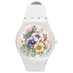 Lowers Pansy Round Plastic Sport Watch (m)
